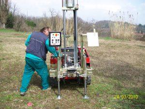 pagani, macchina per la geotecnica e le indagini geologiche